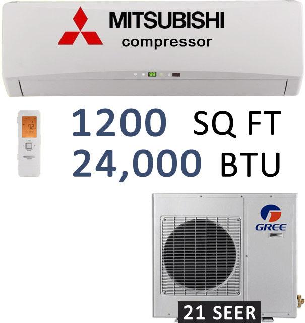 GREE GWH24TD-D3DNA1A 24000 BTU Ductless Split heat pump 21 SEER