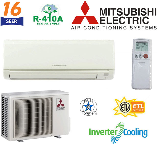 MSYD30NA + MUYD30NA Mitsubishi Mr. Slim Ductless Split
