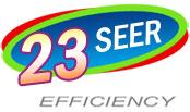 23 SEER
