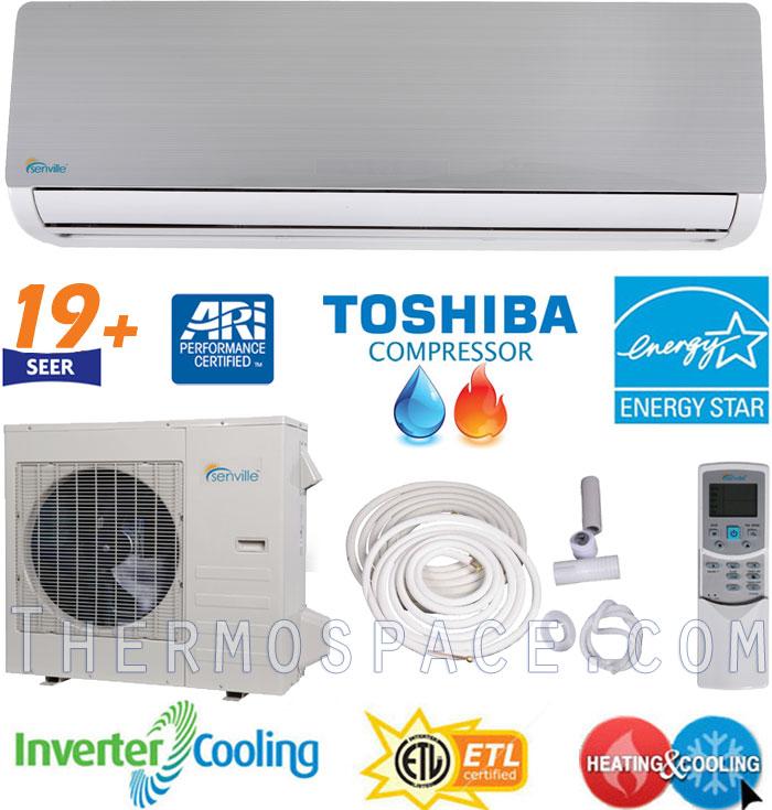 2 Ton Senville Mini Split, 24000 BTU AC Air Conditioner w/ Heat Pump