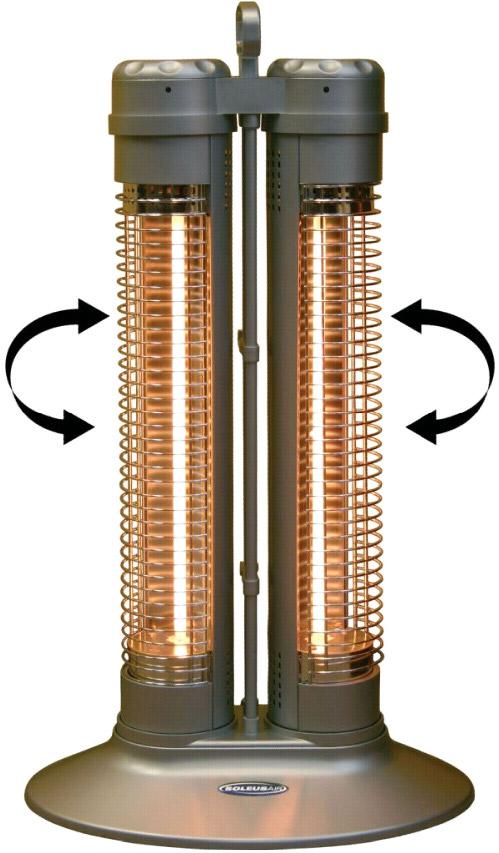 Soleus Air Electric Dual Column Reflective Heater 1000w