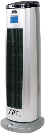 1500W Ceramic Tower Ionizer Heater Sunpentown SH-1508