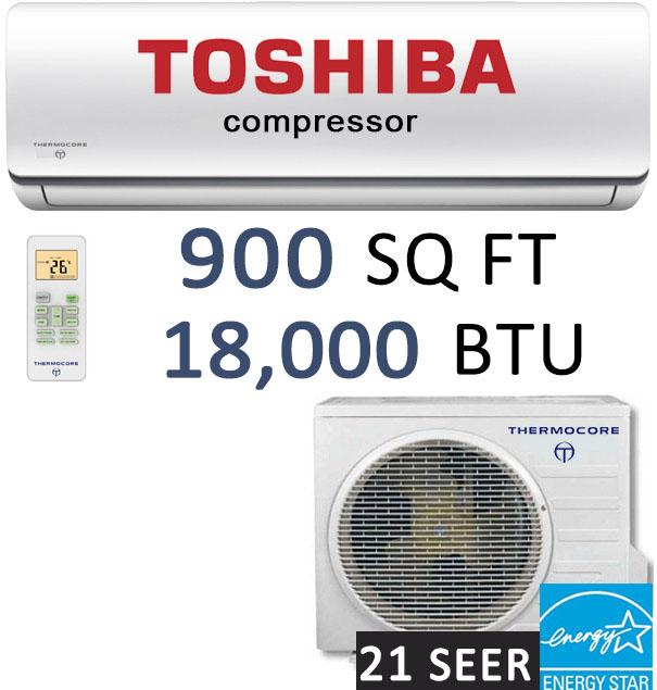 thermocore t321s h218 18000 btu ductless split heat pump 21 seer mini split