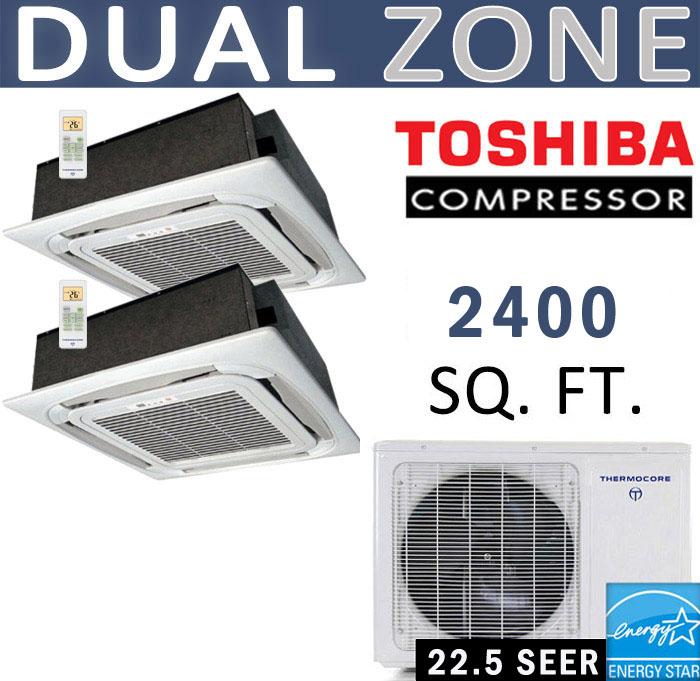 Dual Zone Senville Mini Split, 48000 BTU AC Air Conditioner w/ Heat Pump