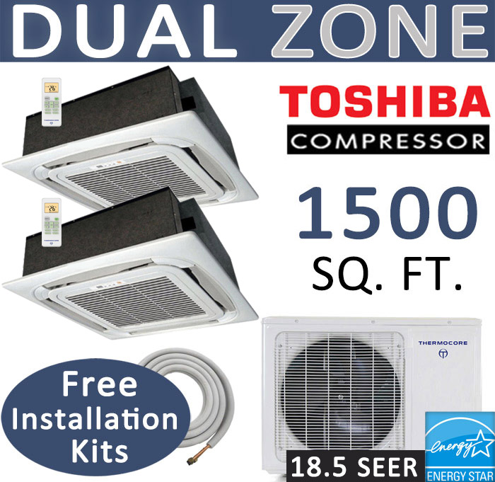 30000 Btu Ductless Mini Split 12000 18000 Ceiling Cassette