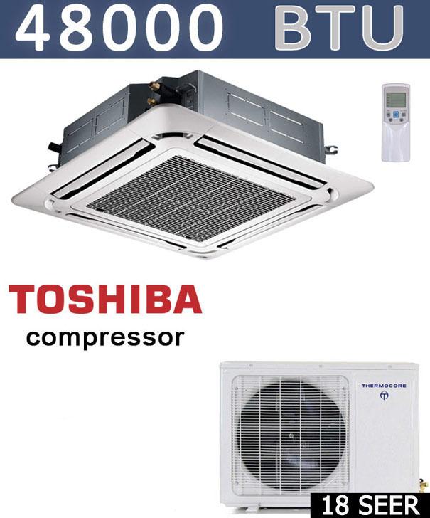Details about 48000 BTU Ductless Mini Split Air Conditioner, Heat Pump  Ceiling Cassette