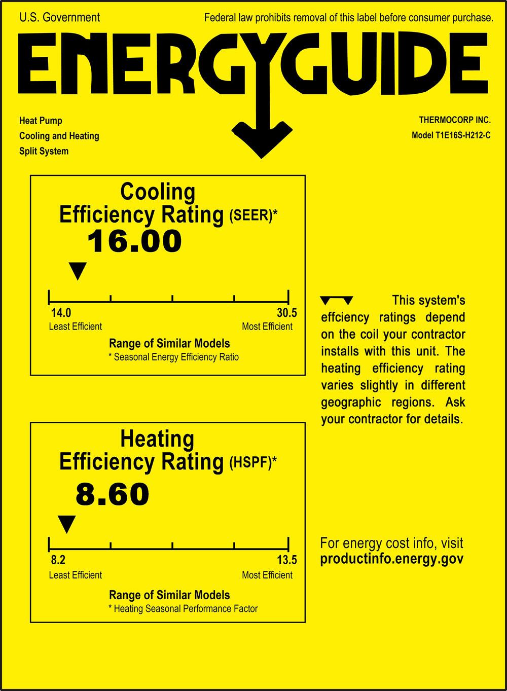 12000 btu mini ductless split air conditioner 1 ton 16 seer Basic Heat Pump Schematic click to view energy label \u003e\u003e\u003e