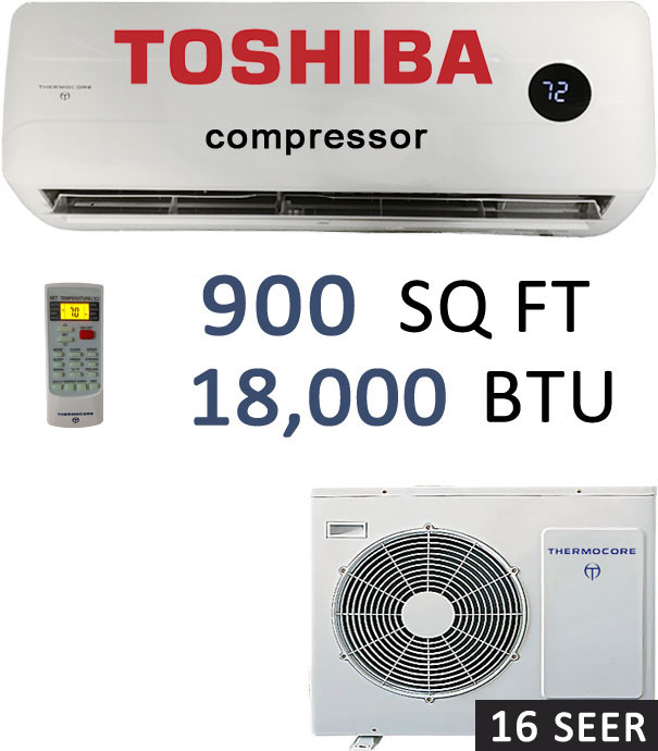19 SEER 18000 BTU Ductless Air Conditioner Heat Pump Mini