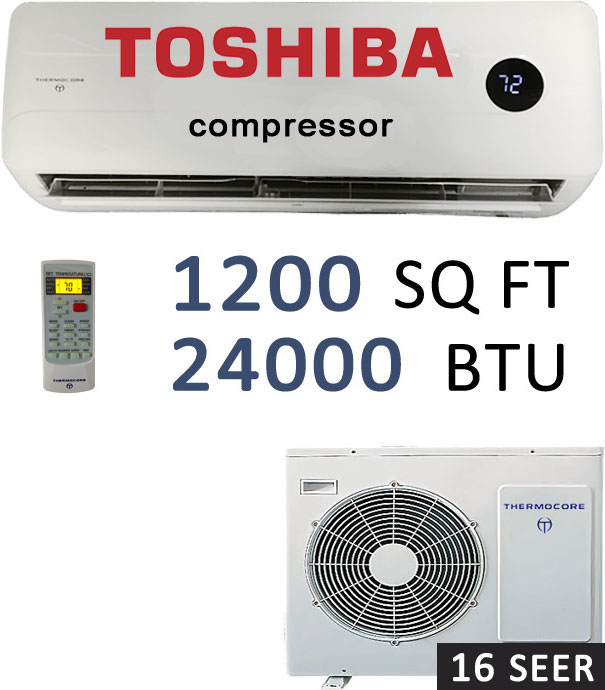 t1e16s h224 24000 btu mini ductless split air conditioner 2 ton mini split