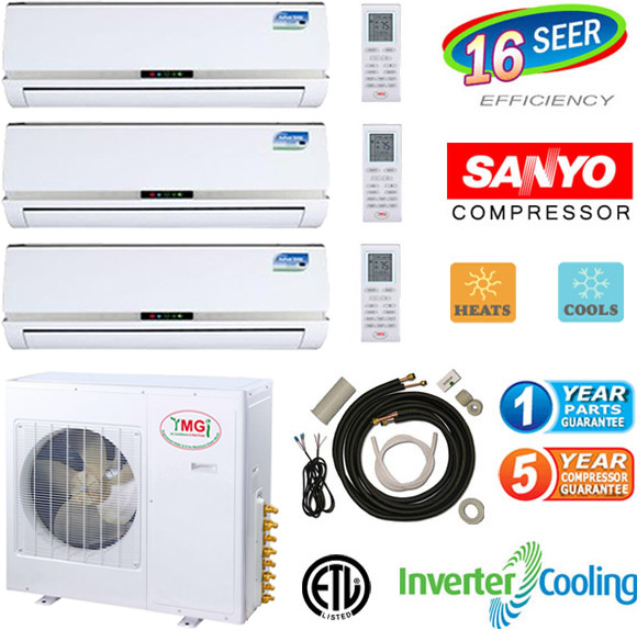 36000 btu tri zone mini split air conditioner heat pump 3 ton for Saia motor freight phone number