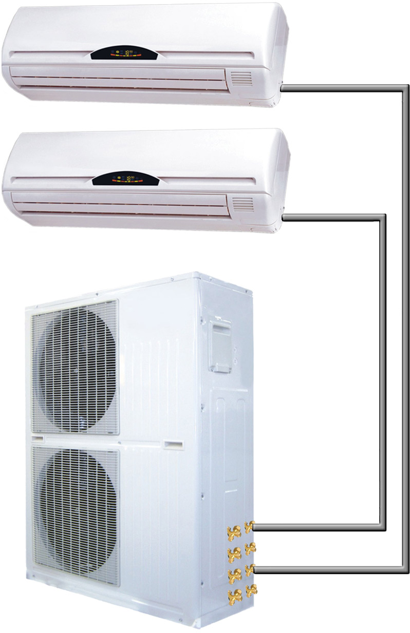 60000 Btu Dual Zone 5 Ton Ductless Mini Split Ac Heat Pump