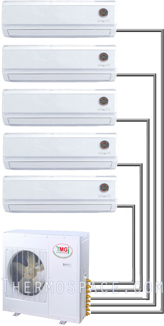 5 Ton Quint Zone Ductless air conditioner  heat pump